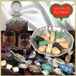 Torroncini con canditi ricoperto di cioccolato fondente-0