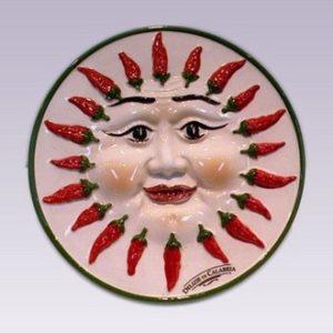Piatto in ceramica calabrese-0