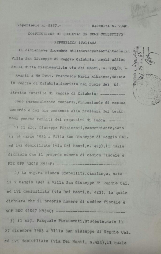 Atto Costitutivo SNC