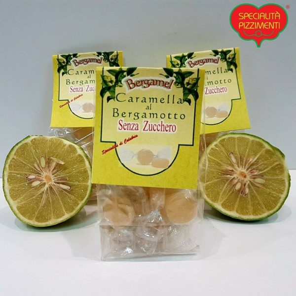 Caramelle al bergamotto senza zucchero-0