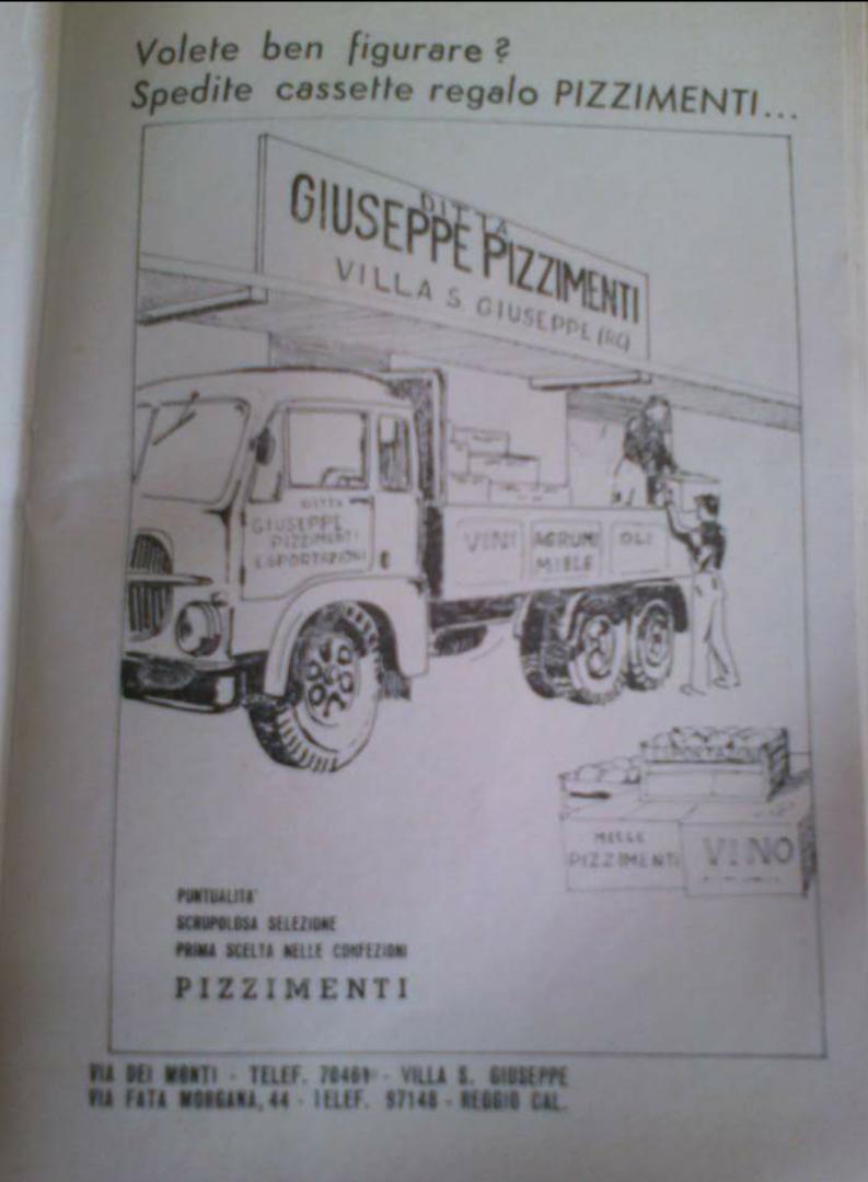 Manifesto pubblicitario Azienda Pizzimenti