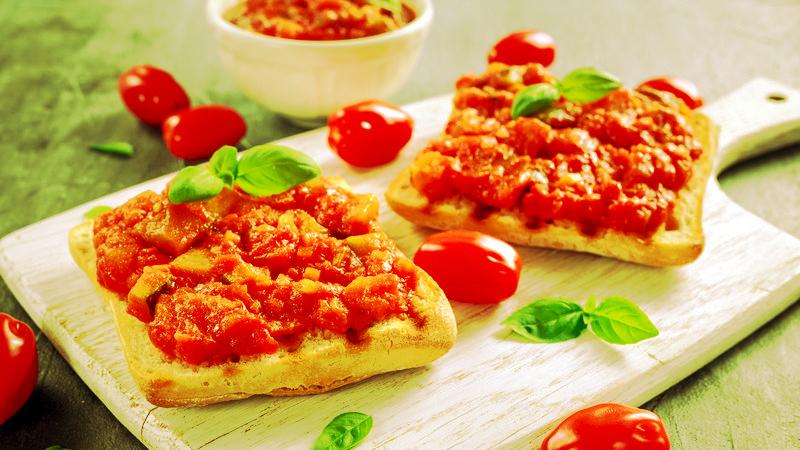 RICETTA specialità Pizzimenti: bruschette pomodori e 'nduja