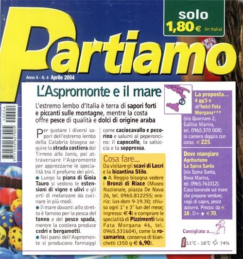 L'Aspromonte e il mare (Partiamo 4 aprile 2004)