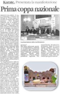 Pizzimenti: prima coppa nazionale di karate Mar Mediterraneo