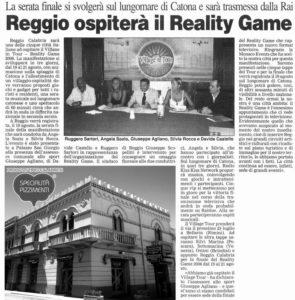 Reggio ospita il Reality Game