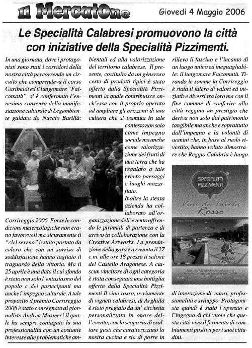 Pizzimenti: Il Mercatone 4 maggio 2006