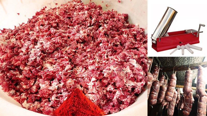 Soppressata Calabrese SPECIALITÀ PIZZIMENTI fatta in casa: l'Antica ricetta: