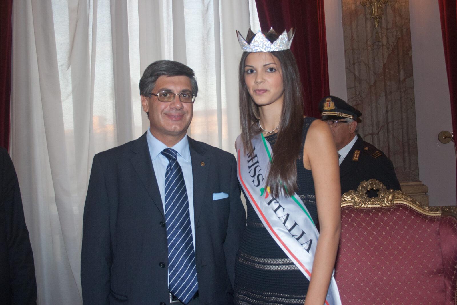 Nuccio Pizzimenti con Stefania Bivone, Miss Italia 2011